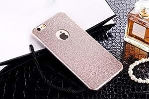 por iPhone 6/6s Caso, iNenk® Suave TPU Carcasa de telefono Delgado Brillo Helado teléfono Moda Diamante Lujo Cubierta Manga protectora por mujeres-Oro