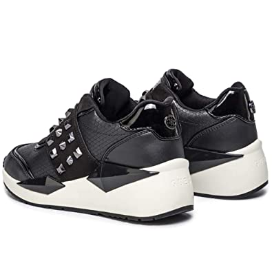 GUESS Sneaker donna nera in pelle