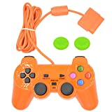 Cheap Wired Gaming Controller for Ps2 Double Shock-Orange