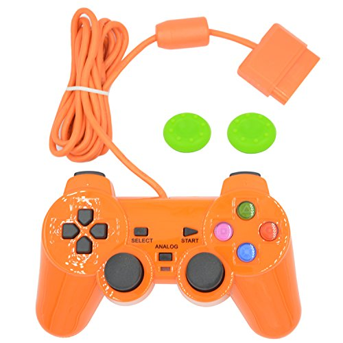 Wired Gaming Controller for Ps2 Double Shock-Orange (Sony Controller Ps2)