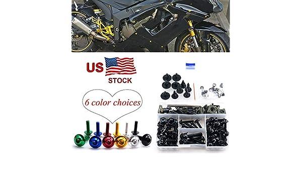 CNC Alloy Complete Fairing Bolt Kit Body Screws M5 M6 For Suzuki Katana 600 750 1998-2007