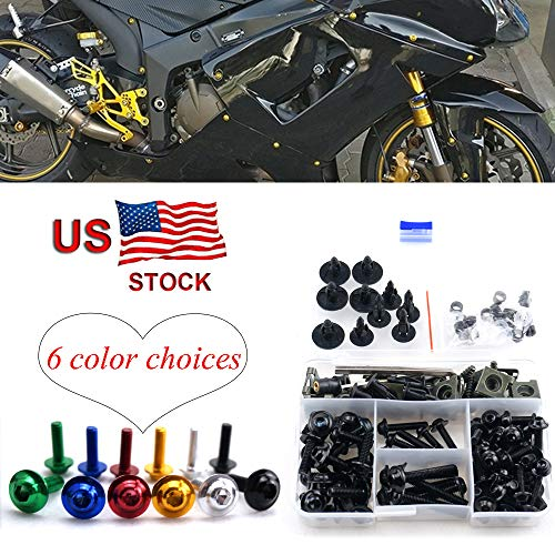 Motorcycle Complete Fairing Bolt Screw Kit For Kawasaki NINJA EX500 EX 500 GPX500 GPX 500 500R 500 R 1994-2009