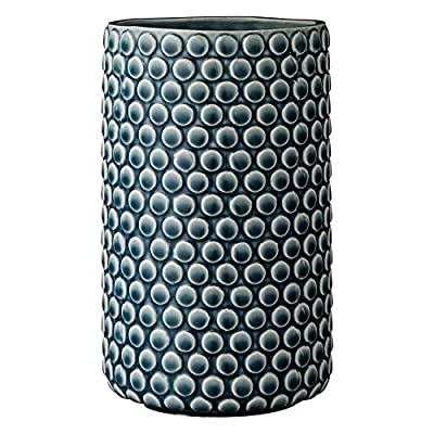 Bloomingville Teal Ceramic Vase with Polka Dot Design - Made with ceramic Sealed to holder water Wipe clean with a damp cloth - vases, kitchen-dining-room-decor, kitchen-dining-room - 51bMd%2B4oRAL. SS400  -