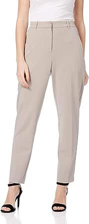 Roman Originals - Pantalones de mujer con pierna recta, delgados y cómodos, lisos, lisos y casuales, elegantes, clase
