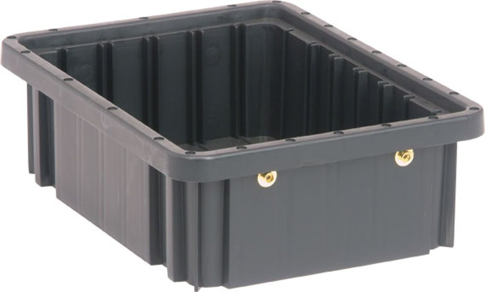 Quantum Storage Systems DG91035CO Dividable Grid Container 10-7/8-Inch Long by 8-1/4-Inch Wide by 3-1/2-Inch High, Black Conductive, 20-Pack