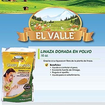 El Valle Linaza Dorada Con Omega 3,6,9 100% Natural 16Oz