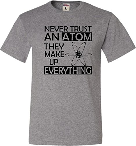 YM 10-12 Oxford Youth Never Trust an Atom They Make Up Everything Science T-Shirt (Never Trust An Atom They Make Up Everything)