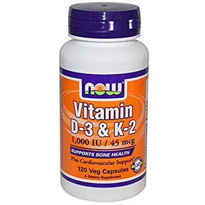 Vitamin D-3 & K-2 120 VegiCaps (Pack of 2)