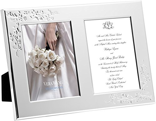 - Wedgwood Vera Lace Bouquet Frame Double Invitation, 5 x 7
