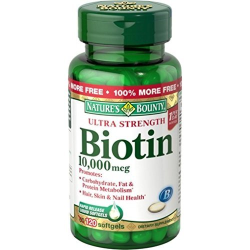 Nature's Bounty Biotin 10,000 mcg, Rapid Release Softgels 120 ea (Pack of 9) by Nature's Bounty