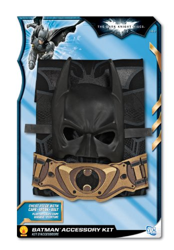 Batman The Dark Knight Rises Adult Costume Accessory Kit, Black, One Size (Batman Black Knight Rises)