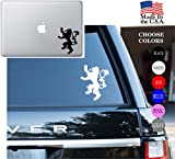 """Game Of Thrones House Of Lannister Series HBO Vinyl Decal Sticker - Car Window, Laptop Skin, Wall, Mac (5.5"""" inches, White)"""