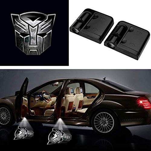 3D Ghost Shadow Emblems Wireless Door Logo Shadow Ghost Lights (2pcs) fit Ford Focus 2 Fiesta F150 Mondeo Transit Mustang etc (Iron ()
