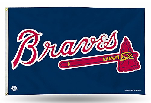 Rico Industries MLB Atlanta Braves 3-Foot by 5-Foot Banner Flag