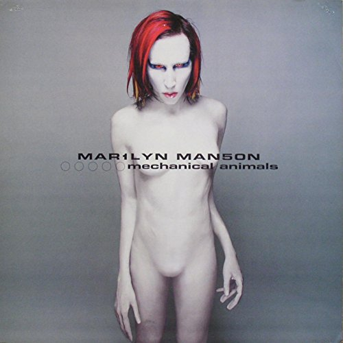 Marilyn Manson - Mechanical Animals - Mini Poster/Print with Black Card Frame and Mount