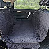 WINNER OUTFITTERS Dog Car Seat Covers,Dog Seat Cover Pet Seat Cover for Cars, Trucks, and Suv - Black, 100% WaterProof, Hammock Convertible