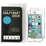DOLPHIN47 EDGE ブルーライトカット 液晶保護フィルム ガラスフィルム 強化ガラス iPhone SE iPhone5 iphone5s iphone5c 対応 ブルーライト 90% カット 日本製素材使用