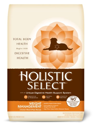 Holistic Select Weight Management Chicken Meal and Peas Recipe Dry Dog Food, 14-Pound Bag, My Pet Supplies