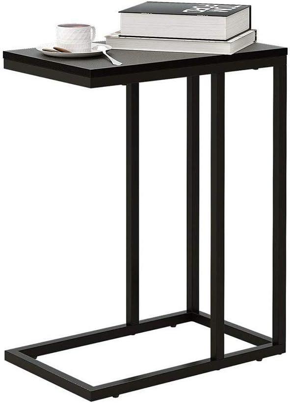 Krijgen Saladplates-LXM tafel, bijzettafel, salontafel, salontafel, zwart/wit, voor koffie, laptop met metaal, nachtkastje naast tafel, 37 x 35 x 65 cm A ErWtM1X