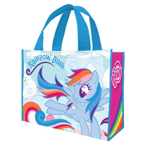 Vandor 42273 My Little Pony Rainbow Dash Large Recycled Shopper Tote, Multicolor -
