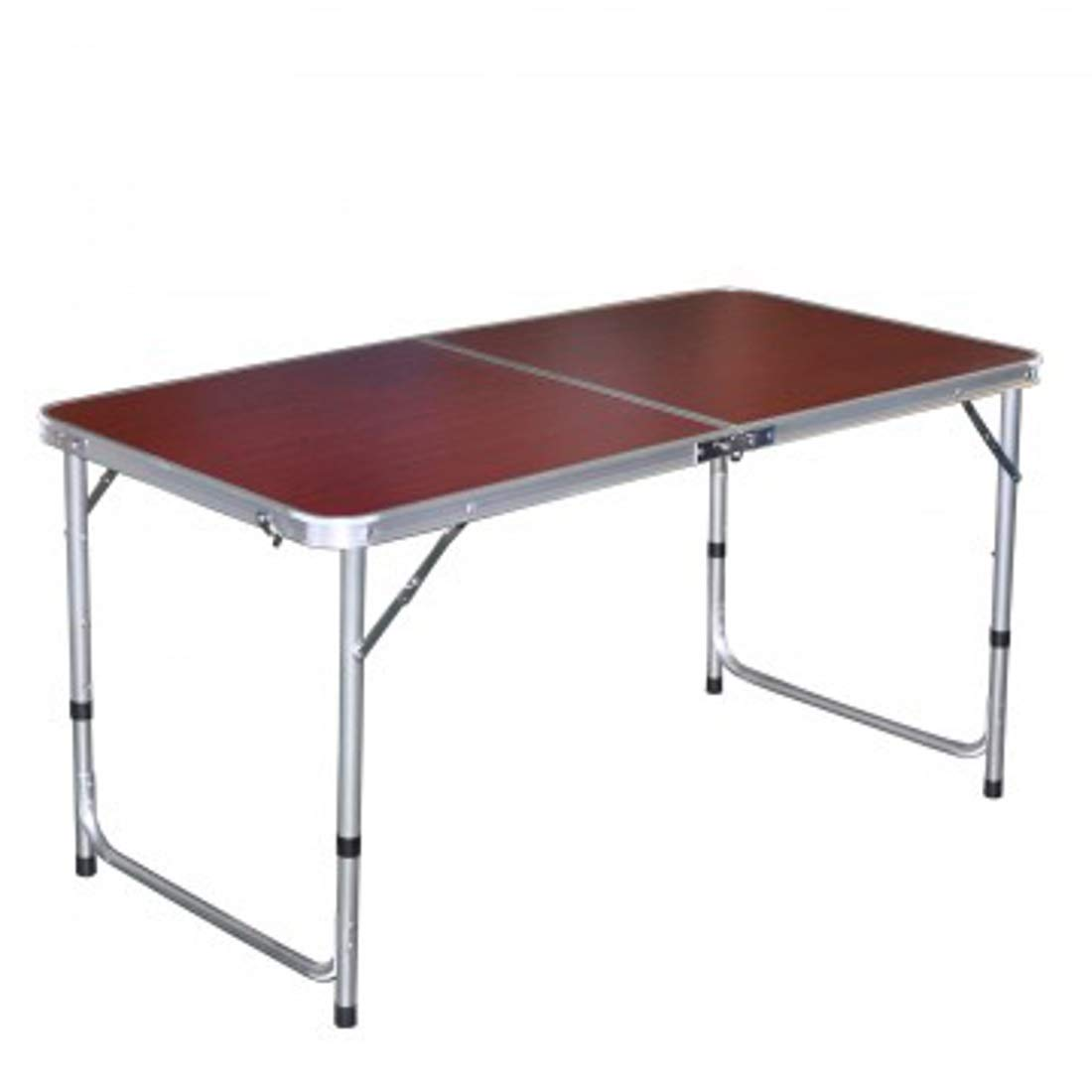LavoHome Cherry Wood Picnic Table Camping Outdoor Activity Compact & Folding | Durable Aluminium |Easily Open Close| 3 Adjustable Heights | Multipurpose Beach Boat Dining & Cooking