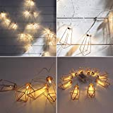 H+K+L Rose Gold Diamond Shape LED Battery Operated String Courtyard Decorative Drip Light String (Yellow)
