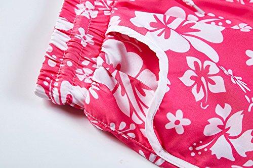 Moda Spiaggia Shorts Fashion Casual Rosa Donne Alta Vita Floreali Pantaloncini Simple Coulisse Estivo con HWFtnqq