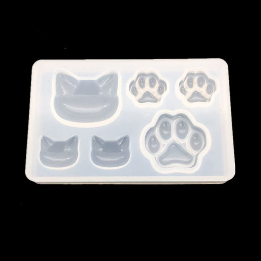 Cat Shape Design DIY Silicone Mold Jewelry Pendant Earring Resin Mould Tools