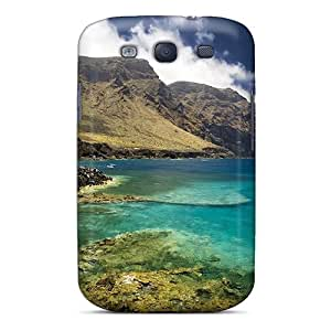 (wIA1277qviv)durable Protection Case Cover For Galaxy S3(fishing On A Wonderful Rocky Shore)