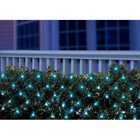 Amazon.com : Holiday Time LED Net Light Set Green Wire Blue Bulbs ...