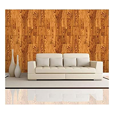 Beautiful Design, Classic Artwork, Vertical Stained Brown Wood Textured Paneling Pattern Wall Mural Removable Wallpaper
