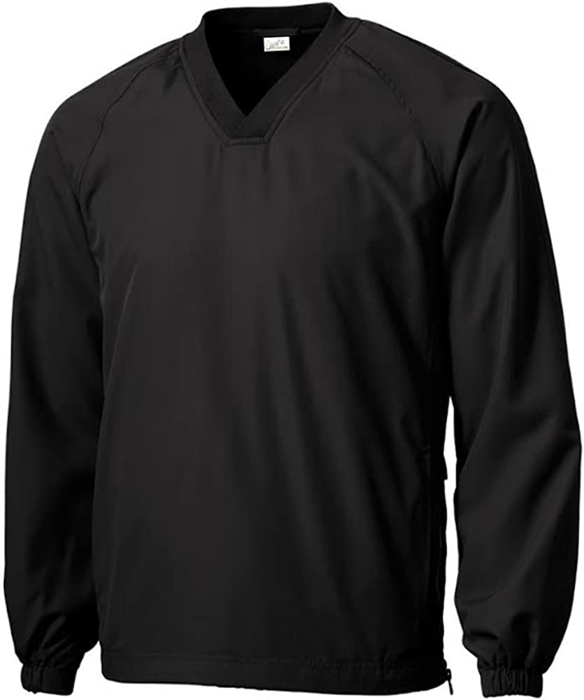 Regular and Tall Sizes XS-6XL Mens Athletic V-Neck Raglan Wind Shirts in Youth