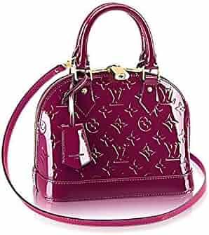 757ba4f009d5 Louis Vuitton Monogram Vernis Leather ALMA BB Cross-Body Carry Handbag  Article  M50565 Magenta
