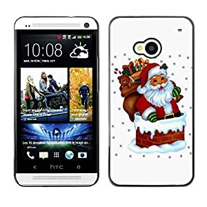 YOYO Slim PC / Aluminium Case Cover Armor Shell Portection //Christmas Holiday Santa Claus Holiday 1039 //HTC One M7