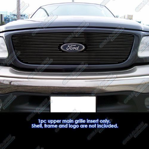 APS F65722H Black Powder Coated Grille Bolt Over for select Ford F-150 Models