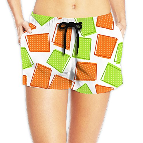 Green Orange Geometric Ventilation 2017 New Style Womens Pants
