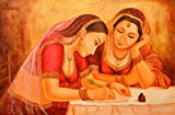 Writing a Love Letter - Oil Painting on Canvas - Artist: Anup Gomay