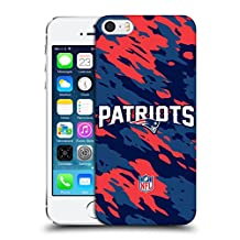 Official NFL Camou New England Patriots Logo Hard Back Case for Apple iPhone 5 / 5s / SE