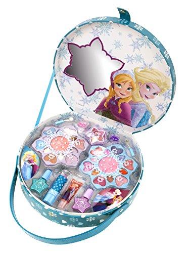 Disney Die Eiskönigin großer Schminkkoffer für Mädchen, 16teilig (Lipgloss, Lidschatten, Lippenstift, Rouge, Nagellack, Applikatoren, Ringe)