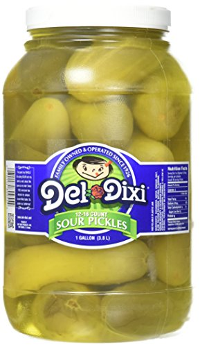 Del-Dixi Sour Pickles, 1 gal, 12-16 pickles per jar