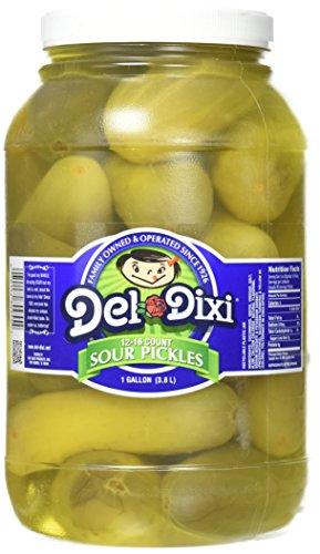 Del-Dixi Sour Pickles, 1 gal, 12-16 pickles per jar