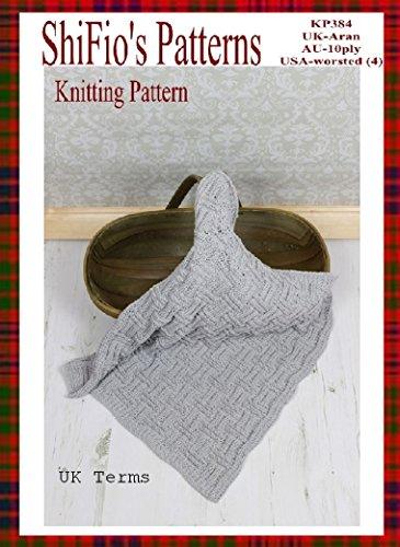 (Knitting Pattern - baby afghan blanket - 3 sizes - UK Terminology #384)