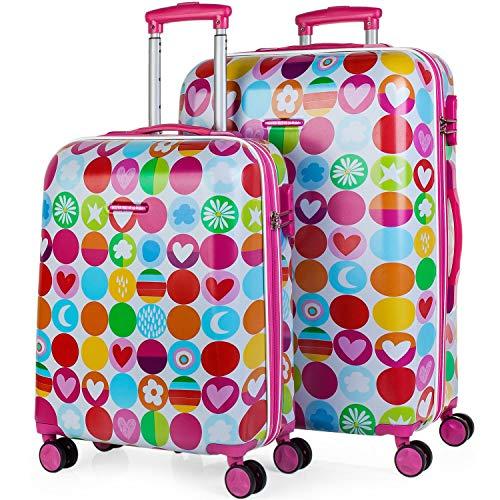Agatha Ruiz De La Prada Happy Luggage Set, 66 cm, 95 liters, Purple ()