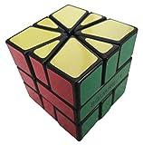 CubeTwist Square One SQ1 Brain Teaser Speed Cube Puzzle (8 Piece), Black