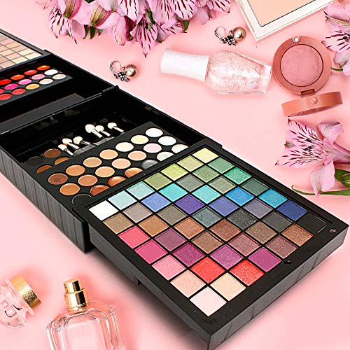 All-in-One Makeup Kit 185-Piece - Complete Makeover Set - Perfect Gift for Holliday and Special Occasions