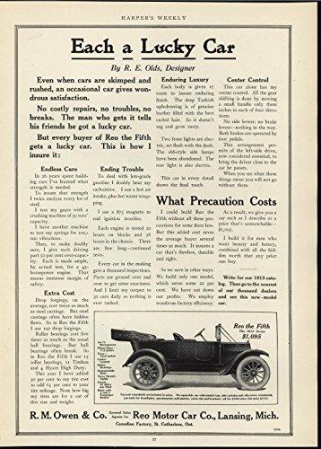 Reo Motor Car Precision Careful Engineering 1913 antique advertising print