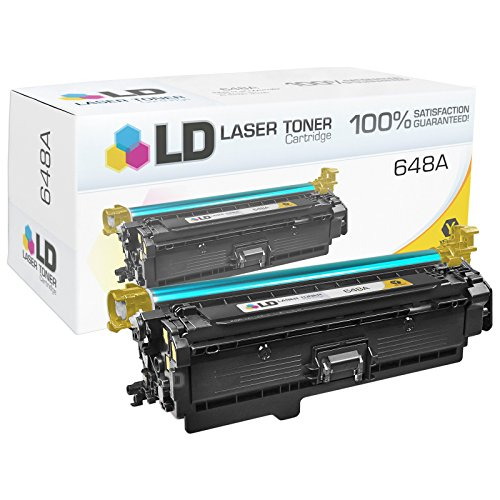 LD © Remanufactured Replacement for HP 648A / CE262A Yellow Toner Cartridge for Color LaserJet Enterprise CP4025dn, CP4025n, CP4525dn, CP4525n, CP4525xh