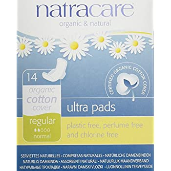 Natracare Natural Ultra Pads with Wings, Regular,14 Count Boxes (Pack of 12)