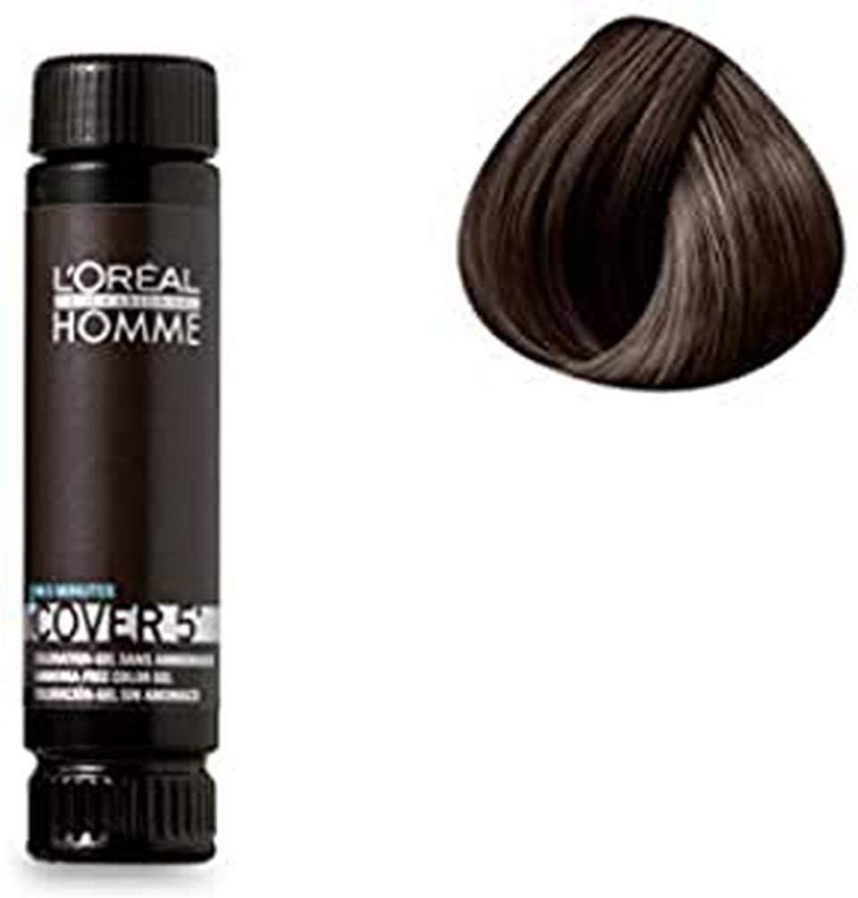 LOréal Color Professional gel sin gel de amoníaco marrón oscuro 3 x 50 ml