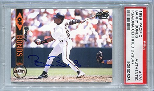 Barry Bonds San Francisco Giants PSA/DNA Certified Authentic Autograph - 1999 Pacific (Autographed Baseball Cards)